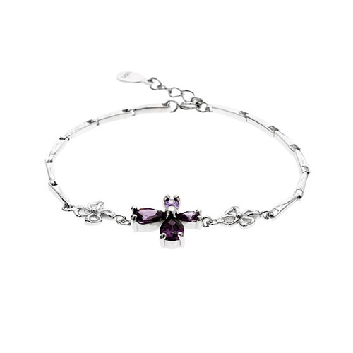 bracelet femme argent zirconium 9500034