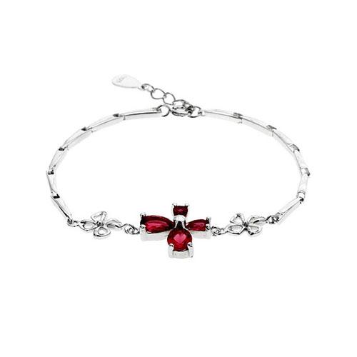 bracelet femme argent zirconium 9500035