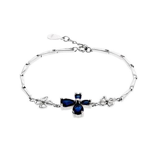 bracelet femme argent zirconium 9500036