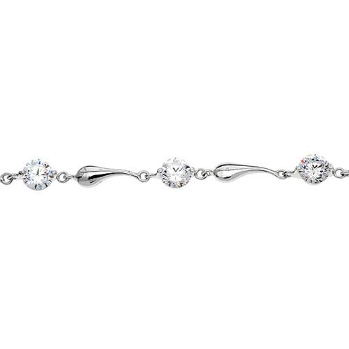 bracelet femme argent zirconium 9500037 pic2
