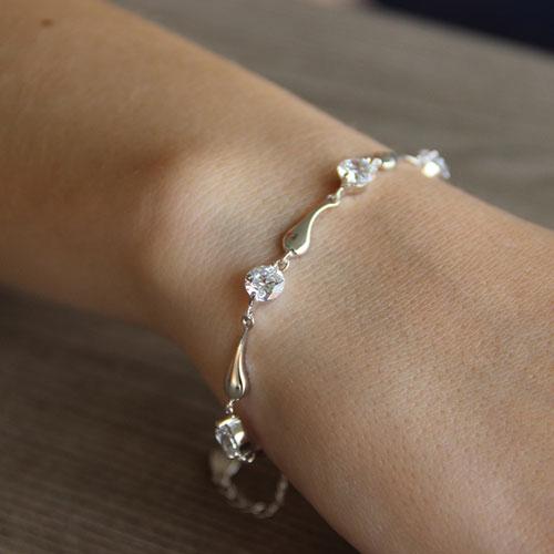 bracelet femme argent zirconium 9500037 pic4