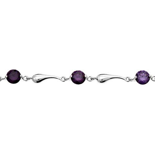 bracelet femme argent zirconium 9500038 pic2