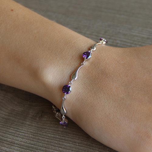 bracelet femme argent zirconium 9500038 pic4