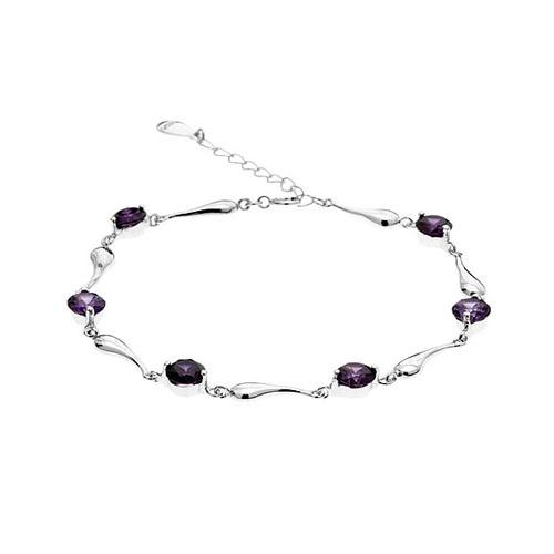 bracelet femme argent zirconium 9500038