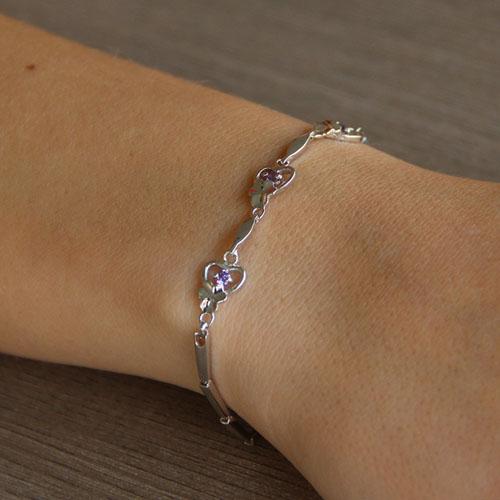 bracelet femme argent zirconium 9500041 pic4