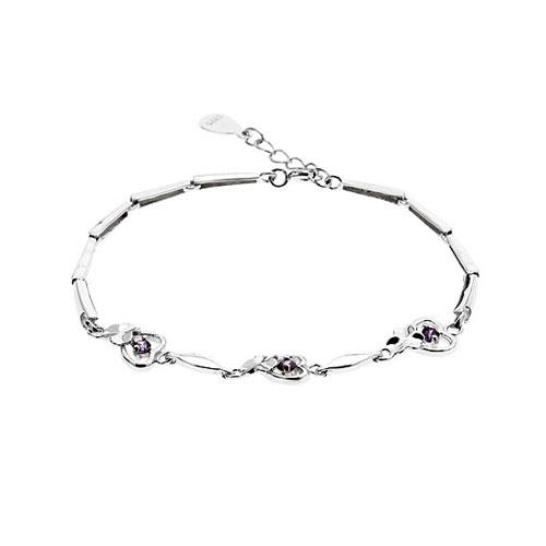 bracelet femme argent zirconium 9500041