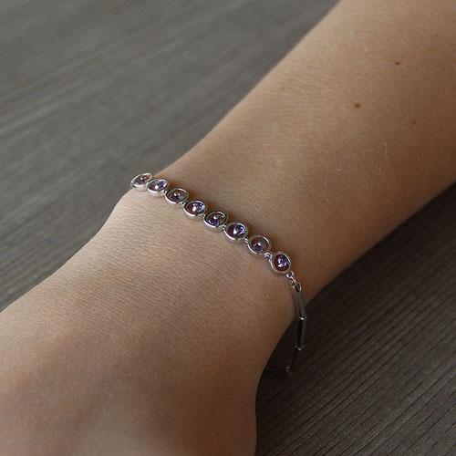 bracelet femme argent zirconium 9500043 pic4