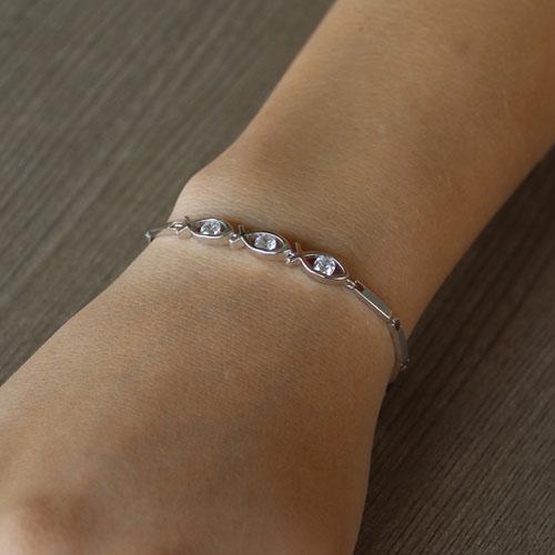 bracelet femme argent zirconium 9500046 pic4