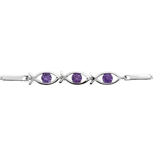 bracelet femme argent zirconium 9500047 pic2