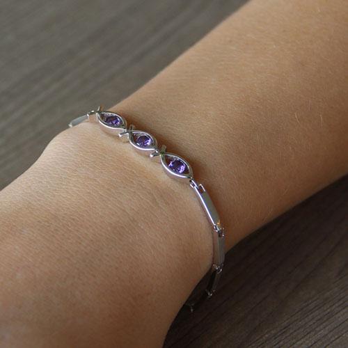bracelet femme argent zirconium 9500047 pic4