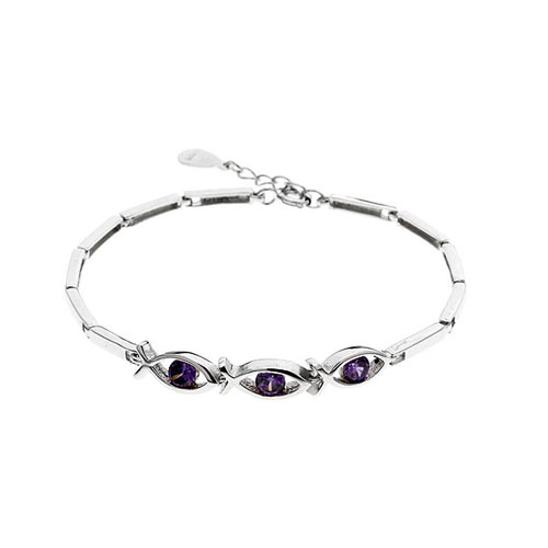 bracelet femme argent zirconium 9500047