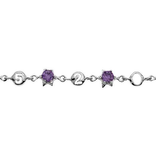 bracelet femme argent zirconium 9500049 pic2