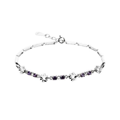 bracelet femme argent zirconium 9500051