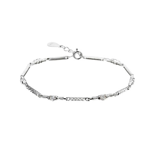 bracelet femme argent zirconium 9500052