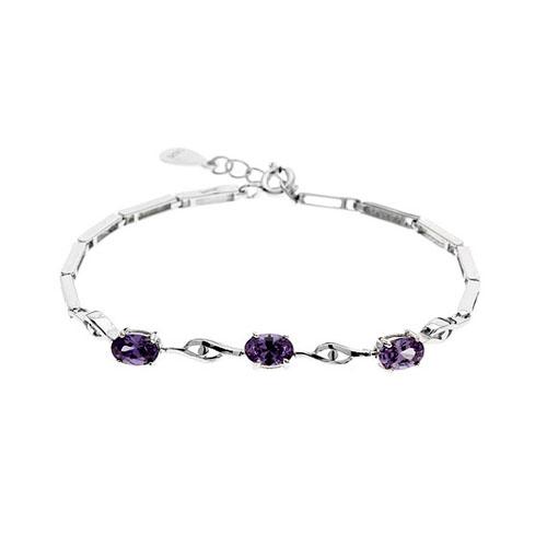 bracelet femme argent zirconium 9500055