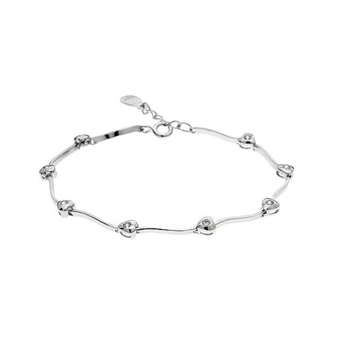bracelet femme argent zirconium 9500058