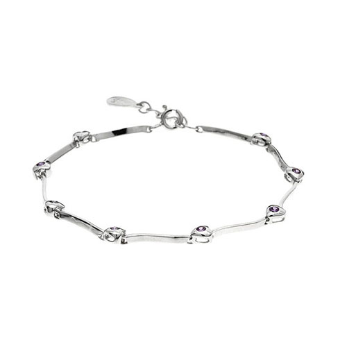 bracelet femme argent zirconium 9500059