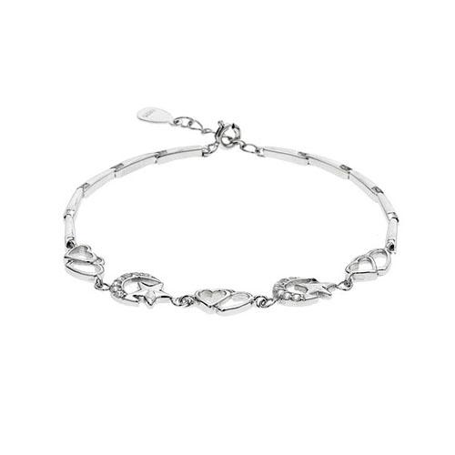 bracelet femme argent zirconium 9500070