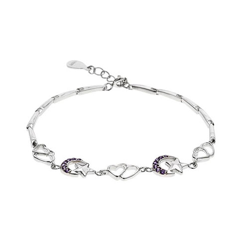 bracelet femme argent zirconium 9500071