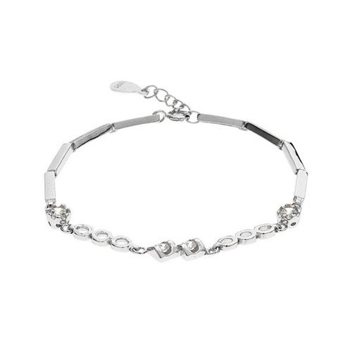 bracelet femme argent zirconium 9500075