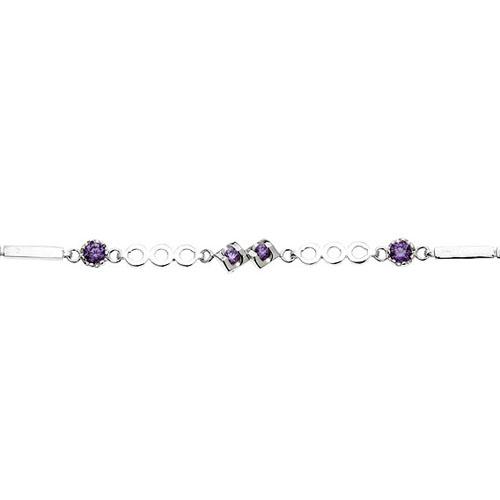 bracelet femme argent zirconium 9500076 pic2