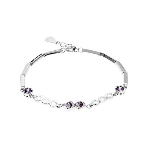 bracelet femme argent zirconium 9500076