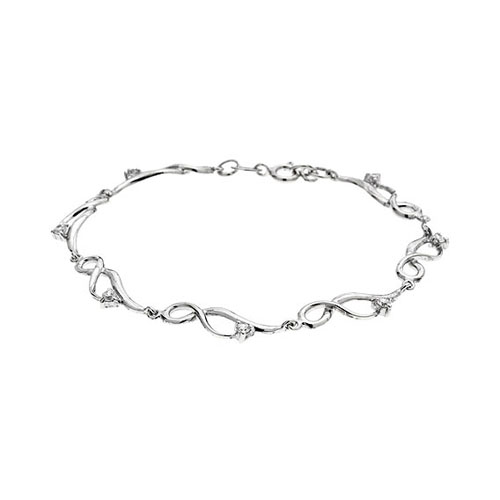 bracelet femme argent zirconium 9500089