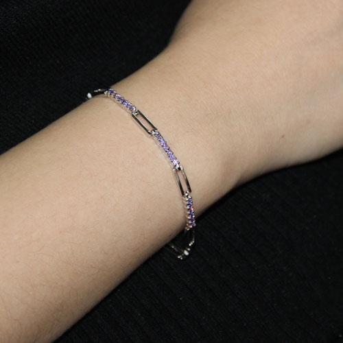 bracelet femme argent zirconium 9500093 pic4