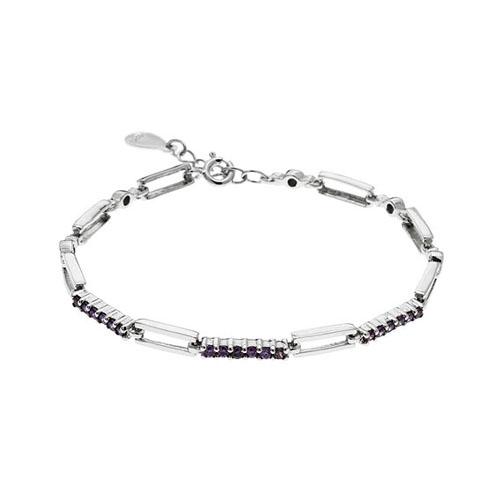 bracelet femme argent zirconium 9500093