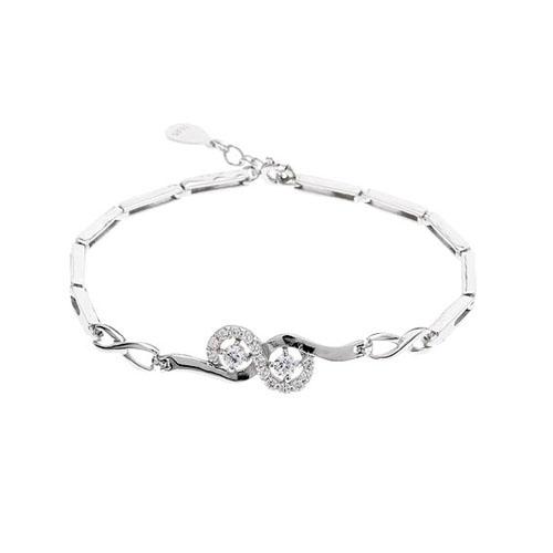 bracelet femme argent zirconium 9500094
