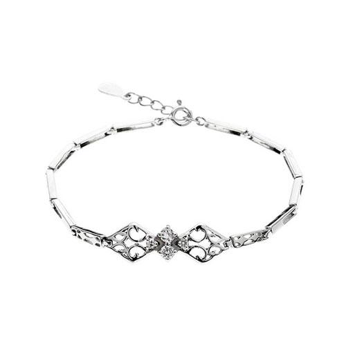bracelet femme argent zirconium 9500095