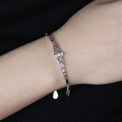 bracelet femme argent zirconium 9500097 pic4