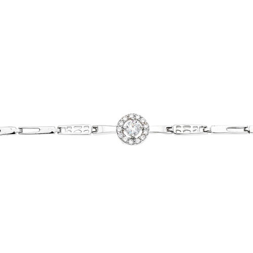 bracelet femme argent zirconium 9500098 pic2