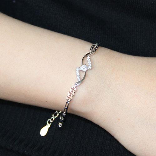 bracelet femme argent zirconium 9500103 pic4