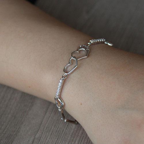 bracelet femme argent zirconium 9500107 pic4