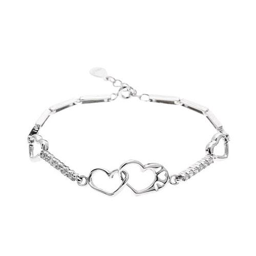 bracelet femme argent zirconium 9500107