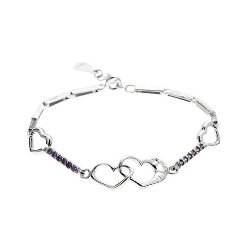 bracelet femme argent zirconium 9500108