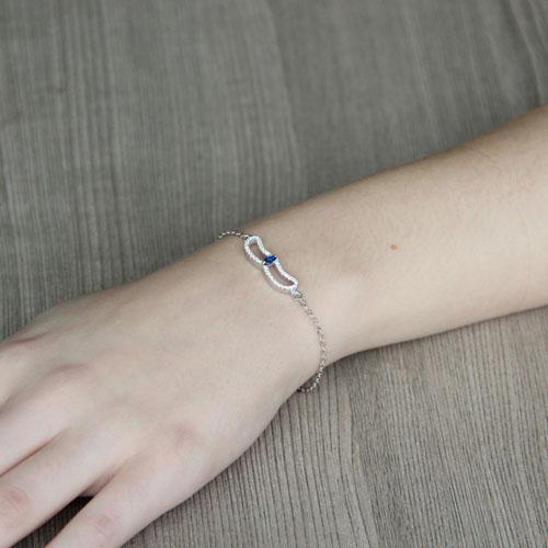 bracelet femme argent zirconium 9500168 pic4