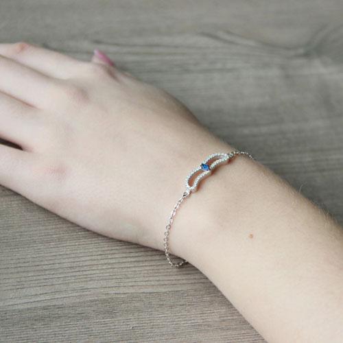 bracelet femme argent zirconium 9500168 pic5