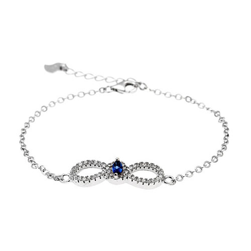 bracelet femme argent zirconium 9500170