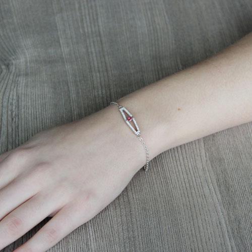 bracelet femme argent zirconium 9500172 pic4