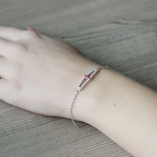 bracelet femme argent zirconium 9500172 pic5