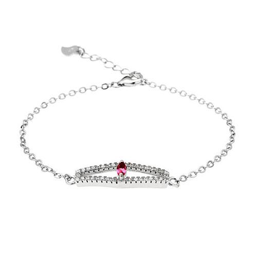 bracelet femme argent zirconium 9500172