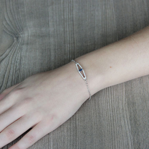 bracelet femme argent zirconium 9500173 pic4