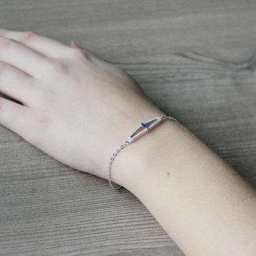 bracelet femme argent zirconium 9500173 pic5