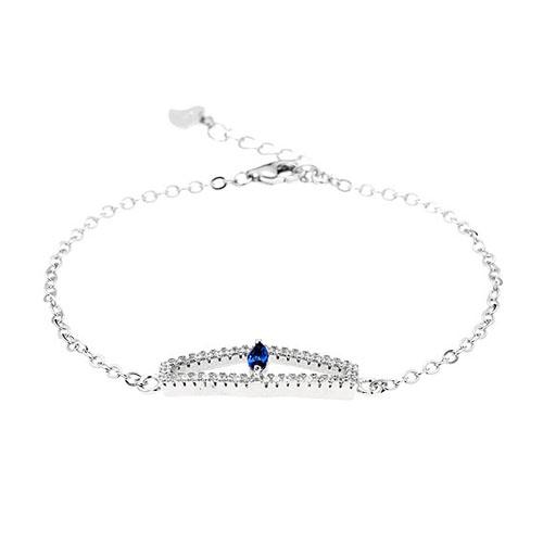 bracelet femme argent zirconium 9500173