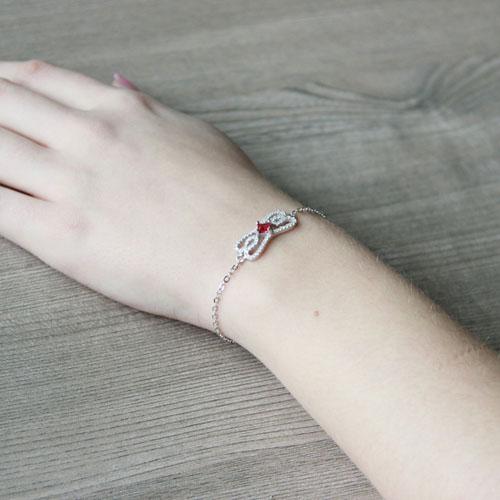 bracelet femme argent zirconium 9500174 pic4
