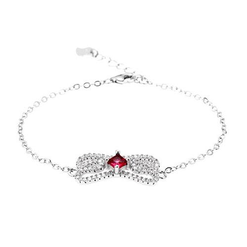 bracelet femme argent zirconium 9500174