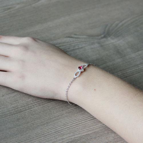 bracelet femme argent zirconium 9500175 pic5