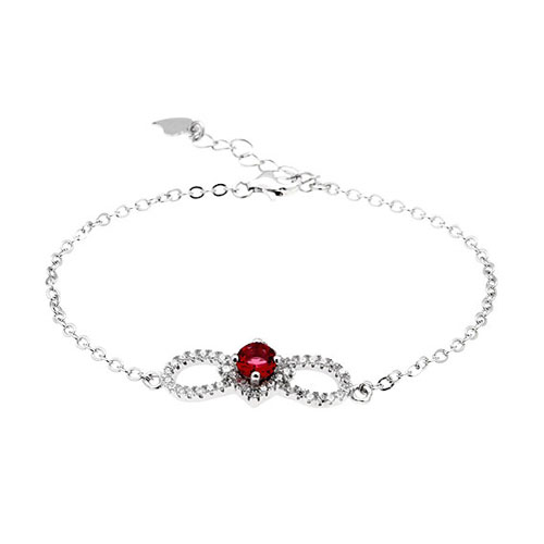 bracelet femme argent zirconium 9500175